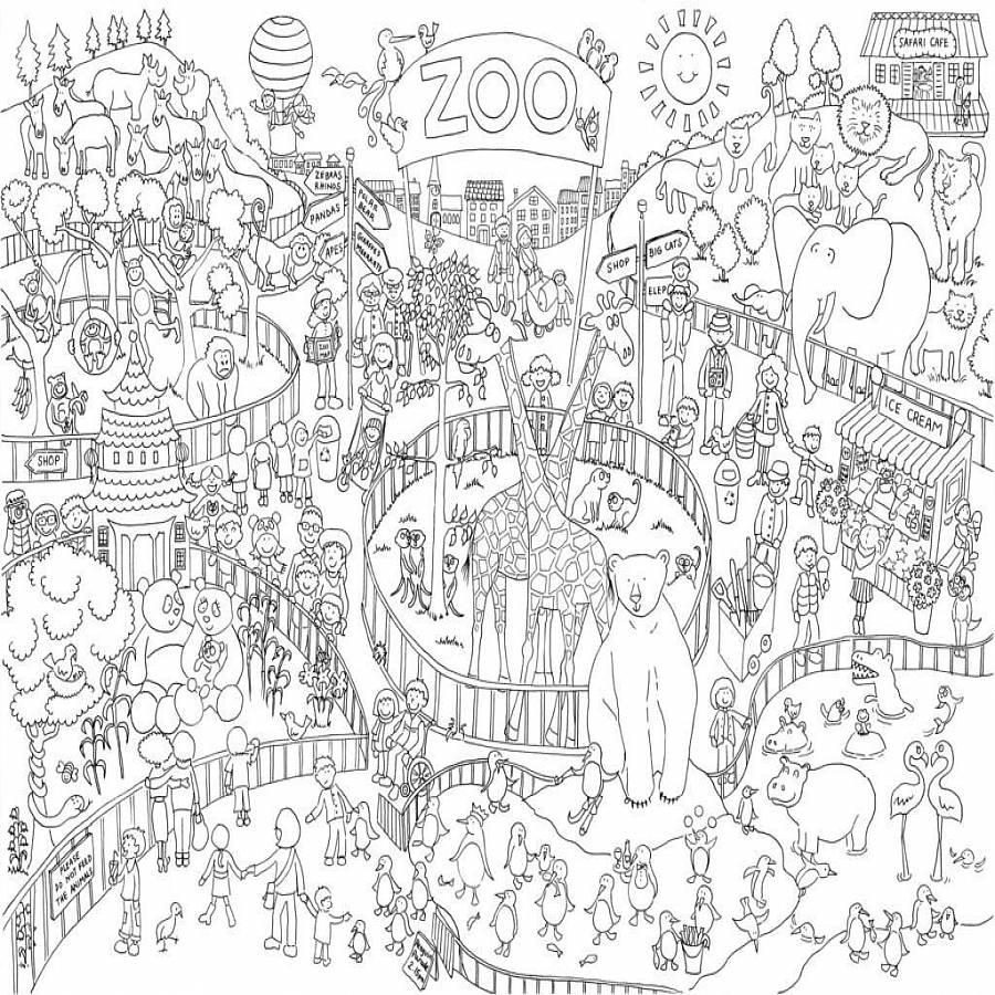 Zoo Bilder Zum Ausmalen